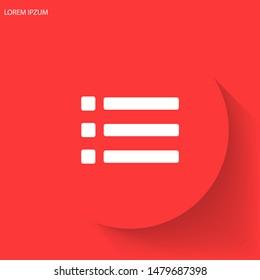 Menu Vector icon . Lorem Ipsum Illustration design
