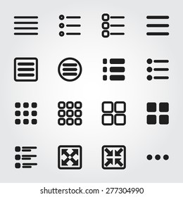 menu vector icons