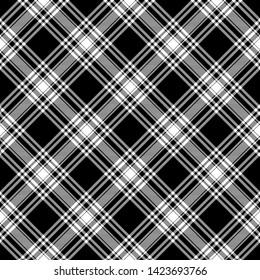 6a22d550f02f26 Menzies Black & White Modern Tartan. Seamless pattern for fabric, kilts,  skirts,