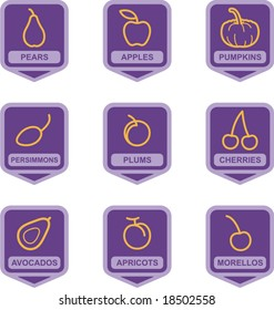 Merchandise Pictogram Series - Fruits