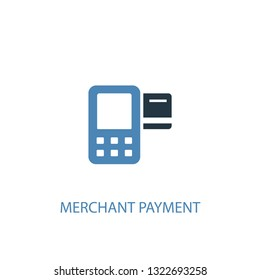 Merchant payment concept 2 colored icon. Simple blue element illustration. Merchant payment concept outline symbol design