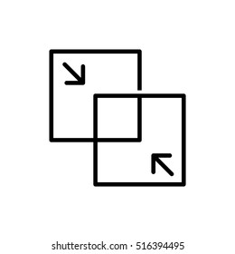 Merge icon - vector illustration.