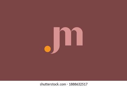 merged letter M with J, JM logo design