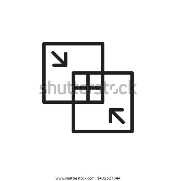 merger icon, illustration, concept vector template