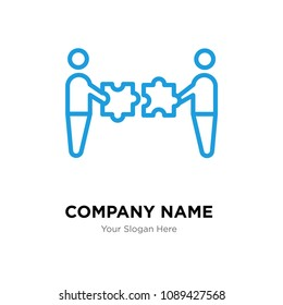 mergers and acquisitions company logo design template, Business corporate vector icon, mergers and acquisitions symbol