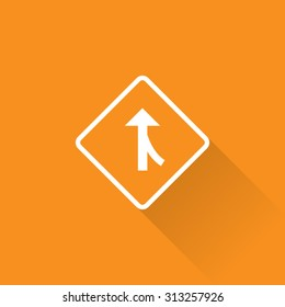 Merging Traffic From Right Sign