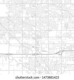 Meridian, Idaho, USA, bright outlined vector map with bigger and minor roads and steets created for infographic backgrounds.