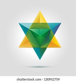 Merkaba or star of David, vector illustration