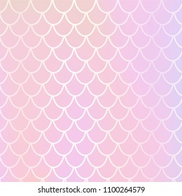 mermaid background made soft pastel pink stock vector royalty free