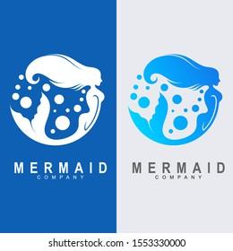 Mermaid Logo Design, Mermaid logo icon design, vector illustration