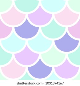 Mermaid scales vector seamless pattern