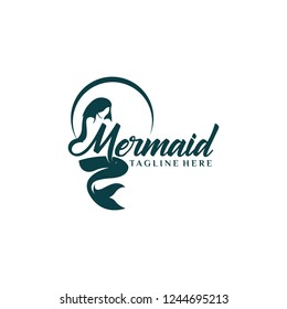 Mermaid silhouette vector logos