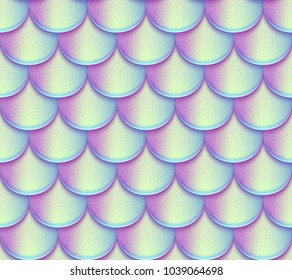 Mermaid tail scales vector seamless pattern. Holographic bright fish texture. Mermaid texture background scale fish skin illustration