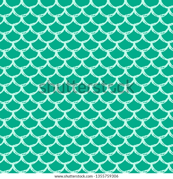 Mermaid tail seamless pattern. Fish skin texture. Tillable background for girl fabric, textile