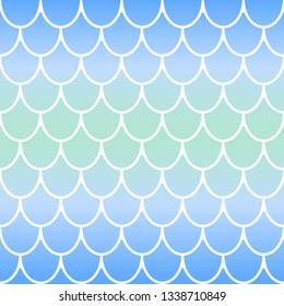 Mermaid texture. Seamless vector pattern.