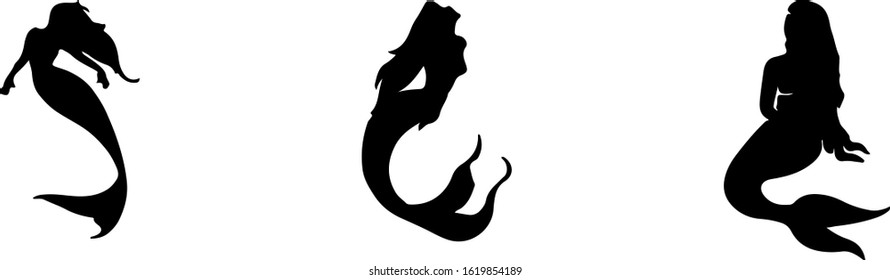 mermaid vector isolated on background