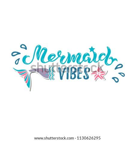 Mermaid vibes vector illustration