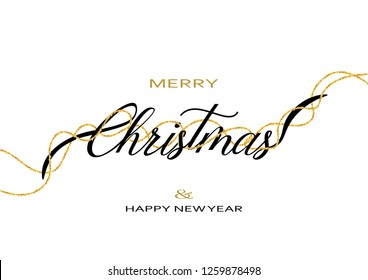 Merry Chirstmas and Happy New Year Greeting Card