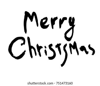 Merry chrismas lettering, Merry chrismas ink writing calligraphy