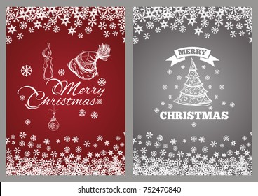 Merry Chrismas. Template for greeting cards, inviations, posters and more.