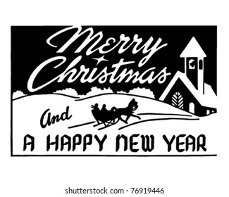 Merry Christmas 2 - Retro Ad Art Banner