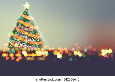 Merry Christmas 2016  on bokeh night city
