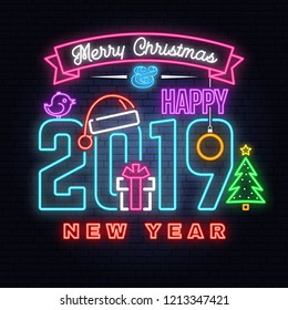 merry christmas 2019 happy new 260nw 1213347421