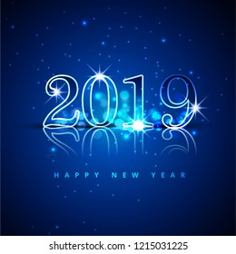 Merry Christmas  2019 happy new year background with colorful Illustration
