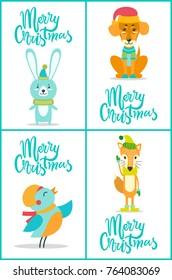 Merry Christmas Icons Hedgehog Head Reindeer Stock Vector (Royalty ...