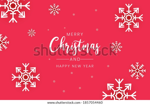 Merry Christmas background card, with a simple and casual design vector.