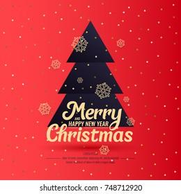 merry christmas background minimalistic style 260nw 748712920