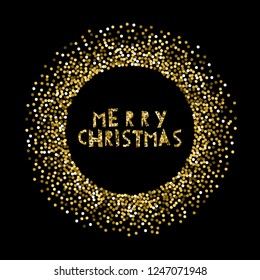 Merry Christmas banner Background glitter.For greeting cards and other designs