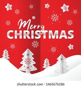 Merry Christmas Banner Design for Social Media Online Post