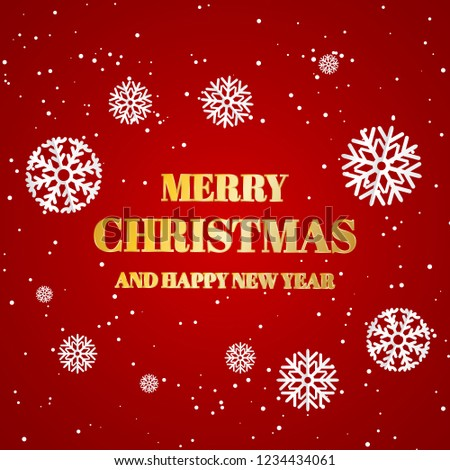 merry christmas banner with falling snowflake holiday happy new year celebration banner