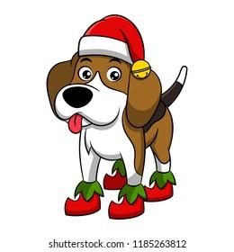 Christmas Beagle Clipart.Clipart Christmas Dog Images Stock Photos Vectors