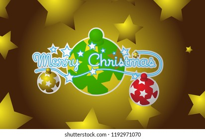 merry christmas, beautiful greeting card background, poster or banner with christmas ball theme. design vector illustration