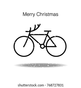 merry christmas bike vector