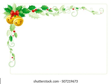 christmas border clip art images stock photos vectors shutterstock https www shutterstock com image vector merry christmas border corner holiday decoration 507219673