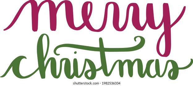 Merry Christmas Calligraphy Design Vector