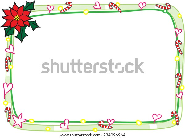 Christmas Card Border.Merry Christmas Card Border Frame Stock Vector Royalty Free