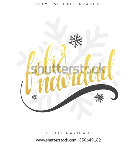 Merry christmas card greetings spanish language stock vector merry christmas card with greetings in spanish language feliz navidad calligraphy for design greeting m4hsunfo