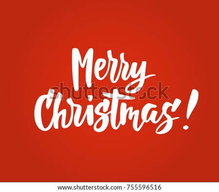 Merry christmas card hand drawn lettering stock vector royalty free merry christmas card hand drawn lettering holiday greeting quote on red background also m4hsunfo