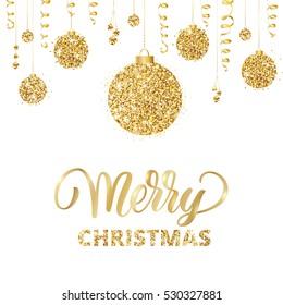 Goldene Weihnachtskugeln.Weihnachtskugeln Gold Stock Vectors Images Vector Art Shutterstock