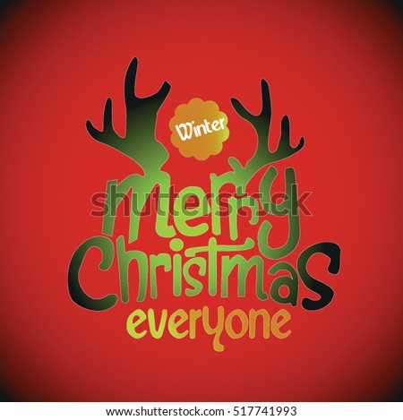 Merry christmas card message vector stock vector royalty free merry christmas card message vector m4hsunfo