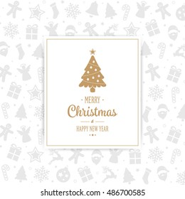 Merry Christmas Card pattern background