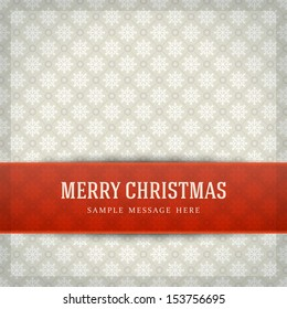 Merry Christmas card and snowflakes pattern decoration background. Vector illustration Eps 10.