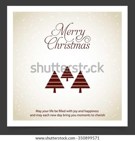 Merry Christmas Card Stylized Christmas Tree Stock Vector Royalty