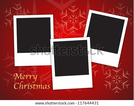 Merry christmas card templates blank photo stock vector royalty merry christmas card templates with blank photo frames on red background vector illustration maxwellsz