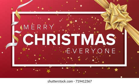 Merry Christmas Background Beautiful Luxury Holiday Stock