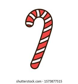 merry christmas celebration decoration candy cane vector illustration